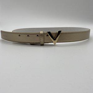 Valentino by Mario Valentino Gold Belt gold logo