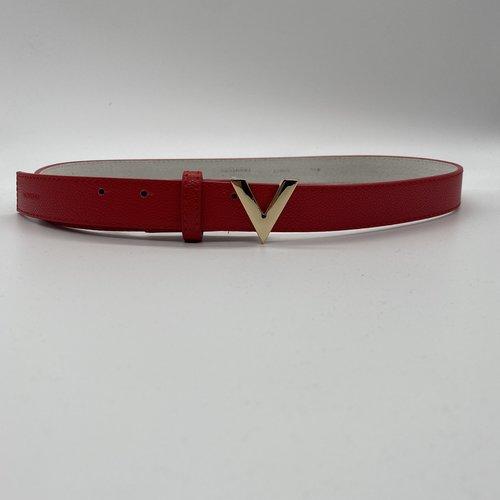 Valentino by Mario Valentino Belt red V-logo