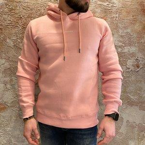 Purewhite Hoodie pink logo