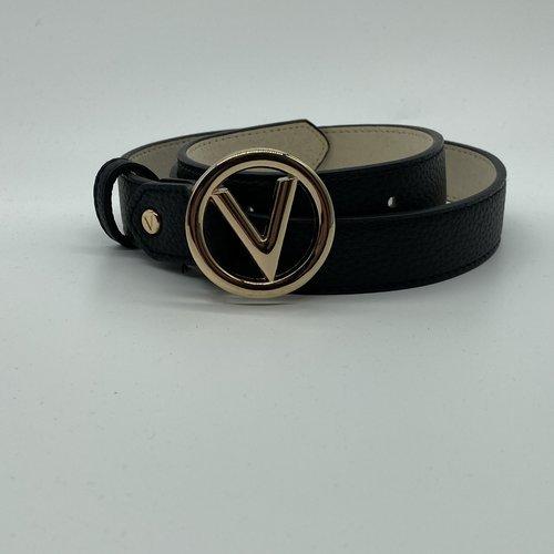Valentino by Mario Valentino Belt gold round logo