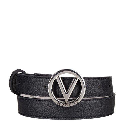 Valentino by Mario Valentino Belt silver round logo