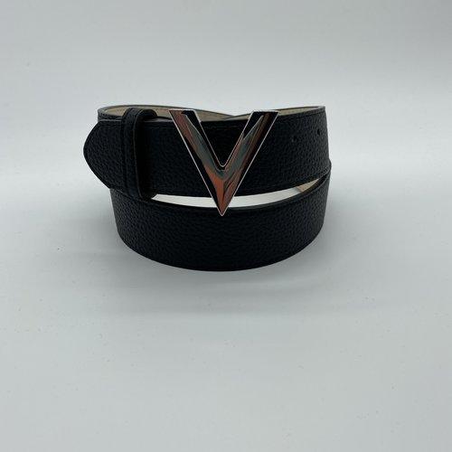 Valentino by Mario Valentino Belt silver logo groot