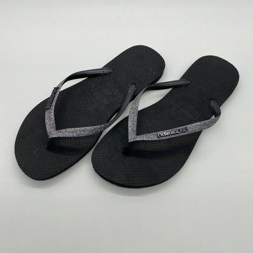 Havaianas Slim glitter black/grey