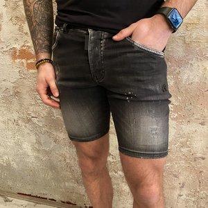 MyBrand Short Jeans Distressed Black