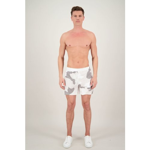 Airforce Camo Swimshort White