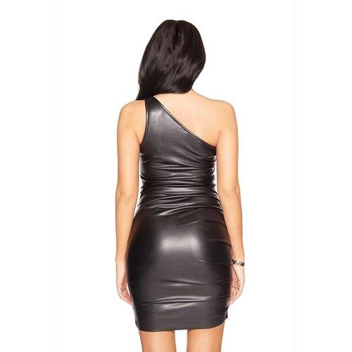 LA Sisters Off shoulder mini dress black