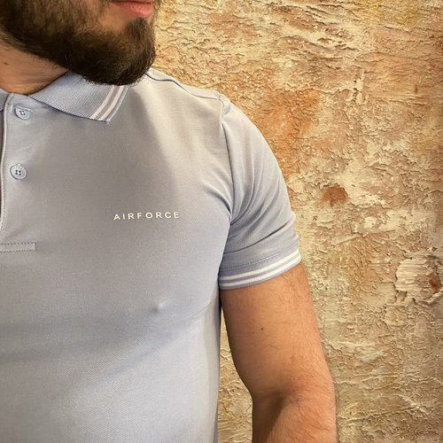 Airforce Polo Double Stripe Skyway Blue