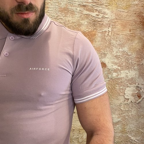 Airforce Polo Double Stripe Lavender Frost