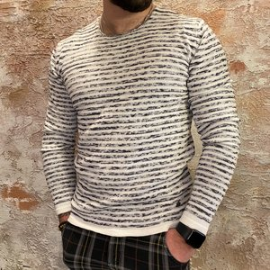 Solid Stripe knit offwhite