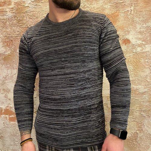 Solid Knit black melange