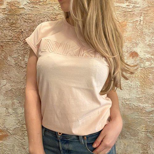 Nikkie Embossed t-shirt pink
