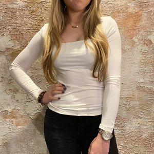 Have2have jurkjes Shirt LM wit vierkante hals