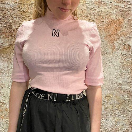 Nikkie Rib Top Turtle neck pink