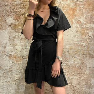 Nikkie Suzy Ruffle wrap dress