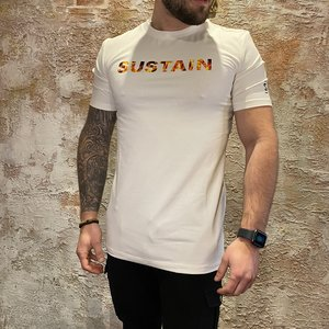 Sustain Flame logo t-shirt off white