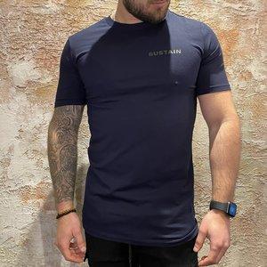 Sustain regular t-shirt navy 2104