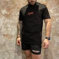 Cura T-shirt Black/ Fuchsia