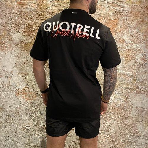 Quotrell Cura T-shirt Black/ Fuchsia