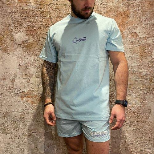 Quotrell Cura T-shirt Light Blue