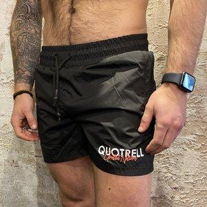 Quotrell Cura Swimshort Black/Fuchsia