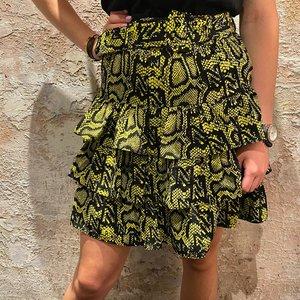 Nikkie Poison Green Snakey Skirt
