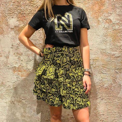 Nikkie Snakey N Logo T-Shirt Black