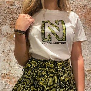 Nikkie Snakey N Logo T-shirt Star White