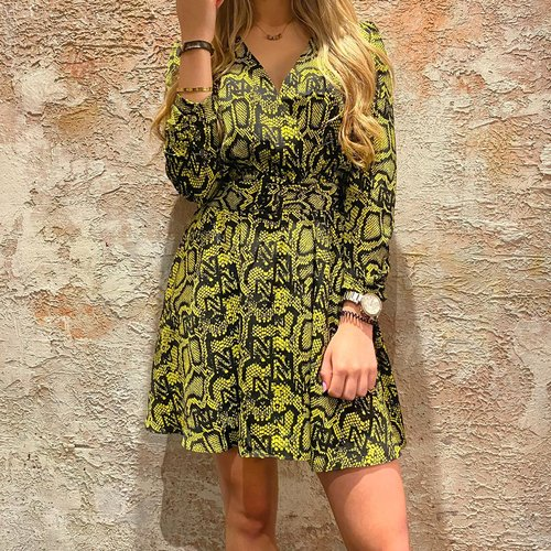 Nikkie Poison Green Snakey Dress