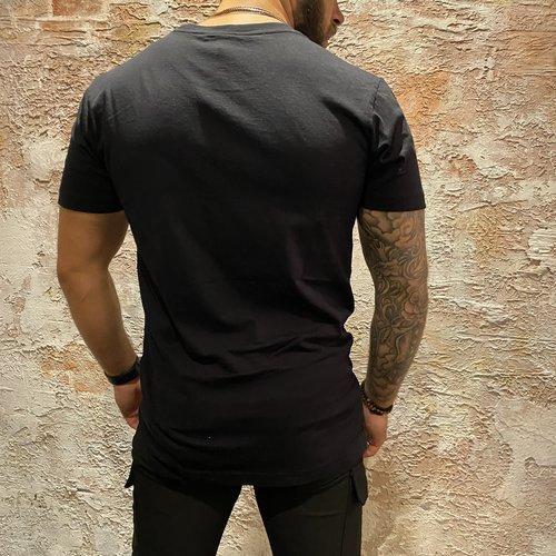 Deus t-shirt shield black tee