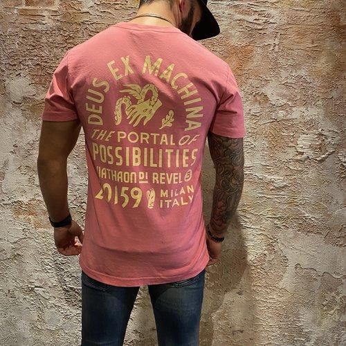Deus t-shirt unbleached rose