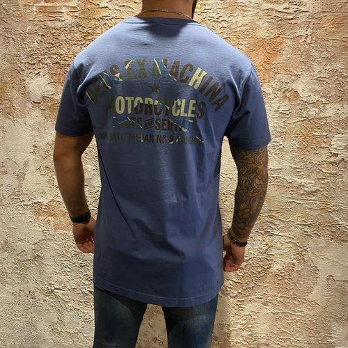 Deus t-shirt Camo print blue