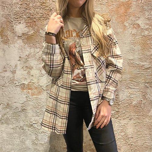 Have2have jurkjes Oversized ruit shirt