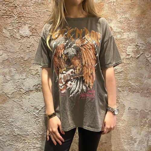 Have2have jurkjes Oversized t-shirt Rock Roll grey