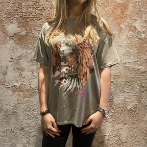 Have2have jurkjes Oversized t-shirt Rock Roll green