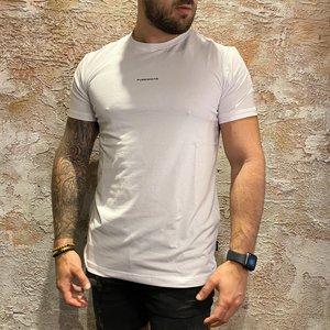 Purewhite t-shirt white driehoek print