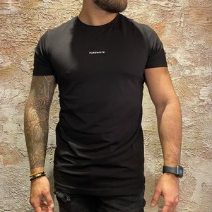 Purewhite t-shirt black driehoek print