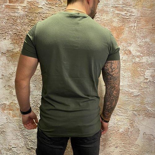 Ballin Amsterdam Dark Army/Yellow T Shirt