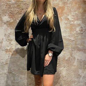 NAKD Smocked Waist Mini Dress Black