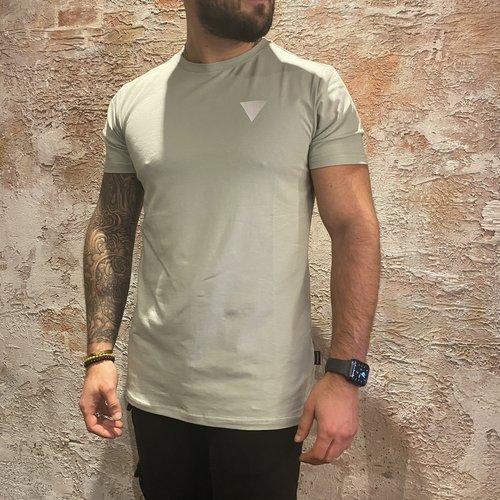 Purewhite t-shirt triangle mint
