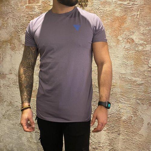 Purewhite t-shirt triangle lilac