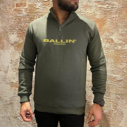 Ballin Amsterdam Pullover zip army green