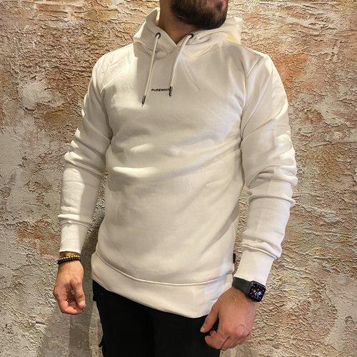 Purewhite triangle hoodie off white