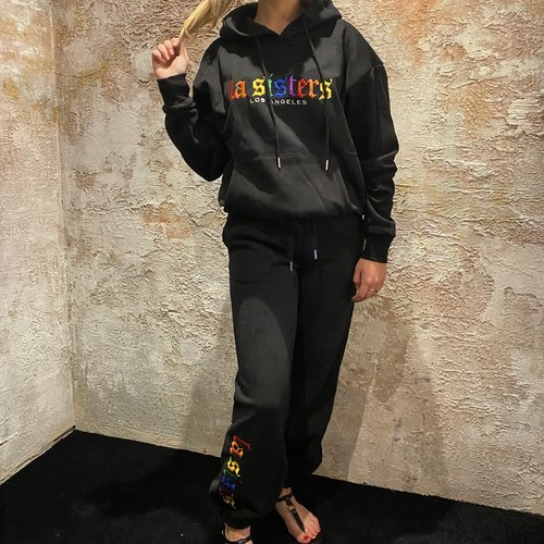 LA Sisters Rainbow Sweatpants black