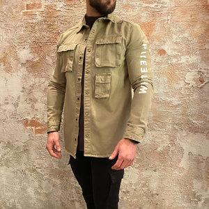Purewhite Overshirt army green