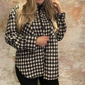 Have2have jurkjes Oversized blouse zwart/wit