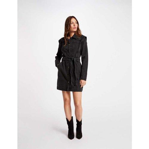 Morgan de Toi Redou Denim Dress Black