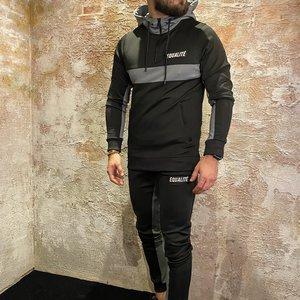 Equalite Jessie Polyester Tracksuit Black&Grey