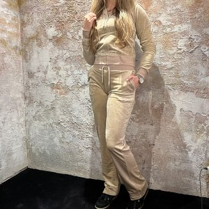 Juicy Couture Del Ray Track Pant Warm Taupe