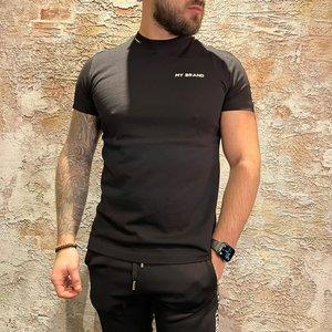 MyBrand Tape T-Shirt Black White