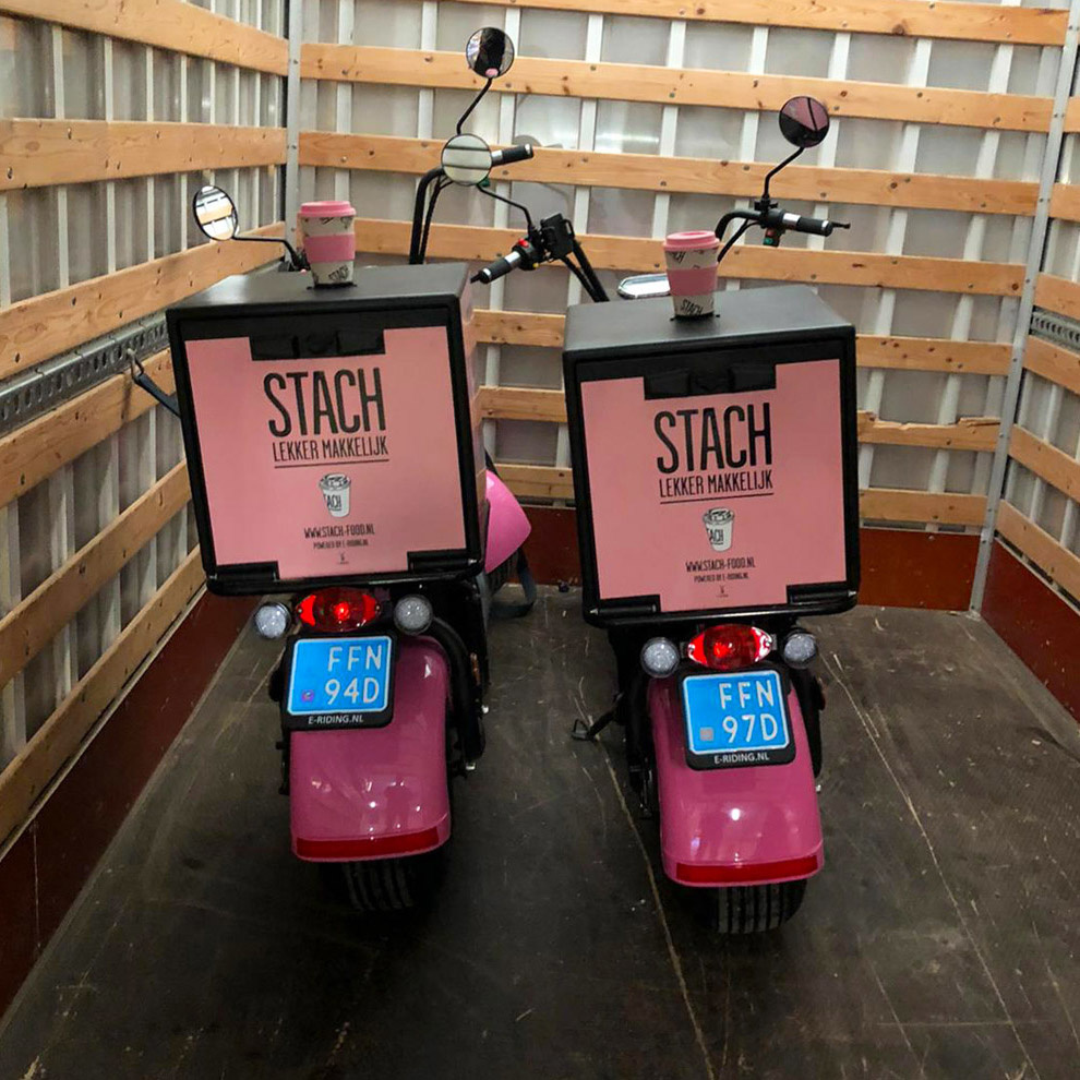 Elektrische bezorgscooters voor STACH - Maatwerk e-scooters